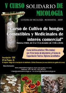 Curso de Cultivo de Setas Comestibles y Medicinales  de Interés Comercial