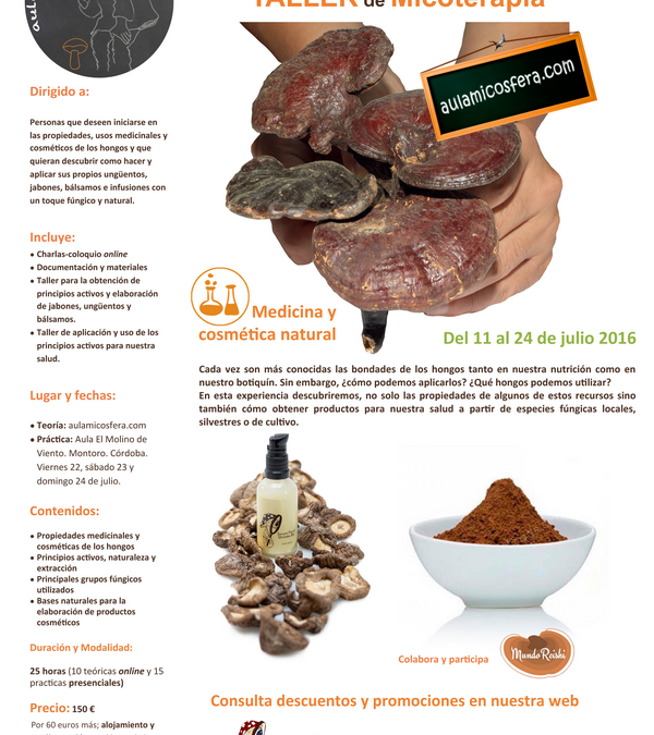 """MundoReishi will participate in the blended-learning course """"Mycotherapy Workshop"""""""