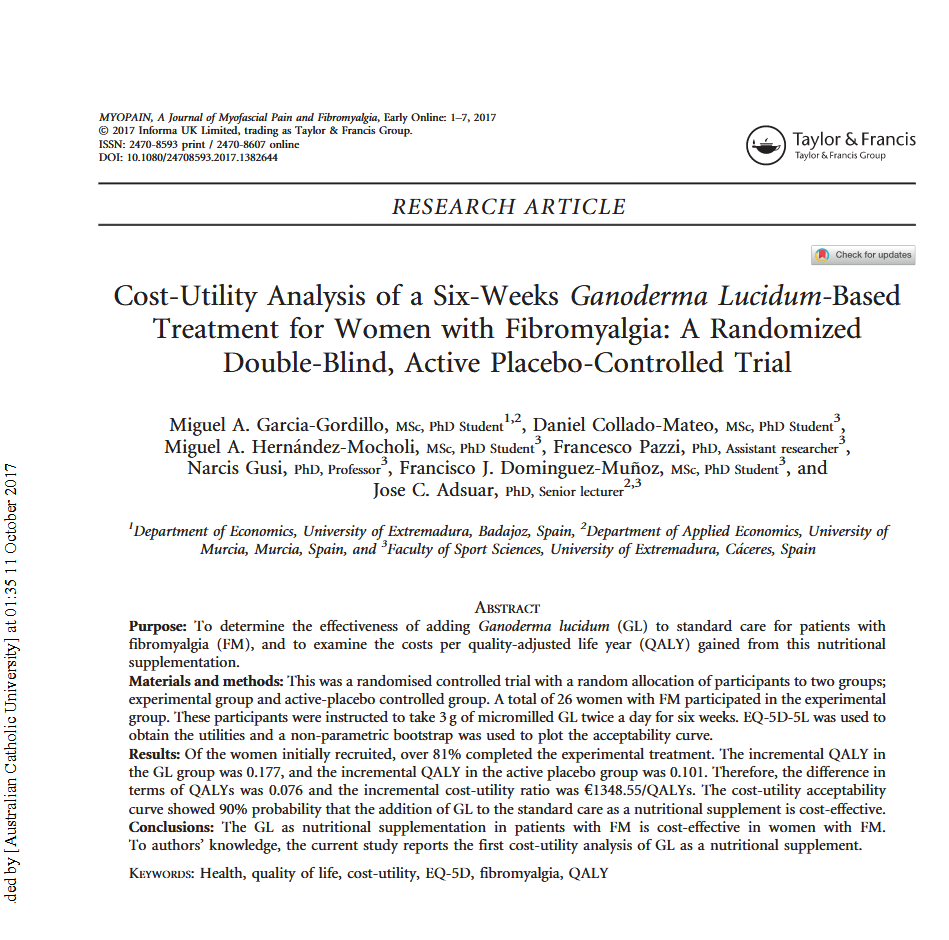 Cost-Utility Analysis of Ganoderma